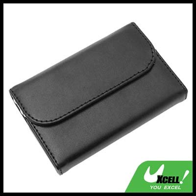 Luxury Leather Black Business Card Case Holder
