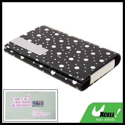 Exquisite Black Hard Leather Business Card Case Holder