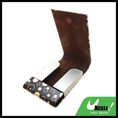 Fashion Pocket Magnetic Flip Cover Black Business Card Case Holder
