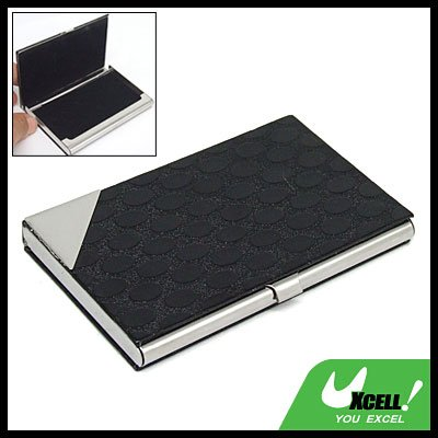 Black Paster Surface Stainless Steel Business Card Case
