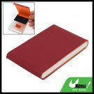 Red Vertical Leather Surface Magnetic Business Card Case