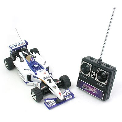 Toy - Radio Romote Control RC Racing Car Formula One (Model 504-11) - blue & white