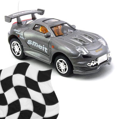 Toy - Radio Remote Control 1:52 Super Fast Racing Car - Metallic Gray