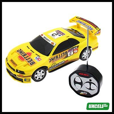 Toy Car - Mini Remote Control Mini Speed Racer Automobile - Yellow