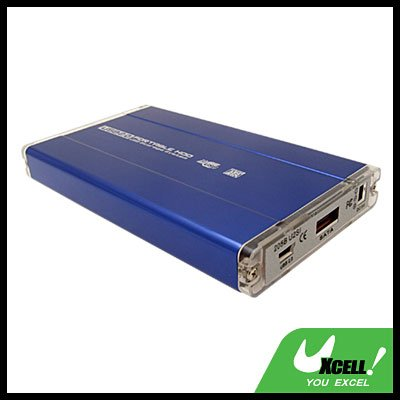 "Blue USB 2.0 2.5"" SATA HDD External Enclosure Hard Drive Case Box"