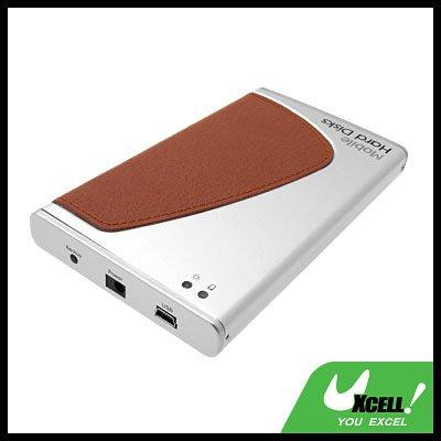 "2.5"" USB OTB SATA HDD Aluminum External Hard Drive Enclosure Case Silver"