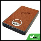 "2.5"" USB SATA HDD Aluminum External Hard Drive Enclosure Case Brown"