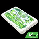 "Boxing Girls 2.5"" USB SATA HDD Metal Mobile Hard Disk Enclosure Case White"