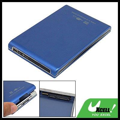 2.5 Inch USB External Hard Disk Drive Blue Case HDD SATA Enclosure