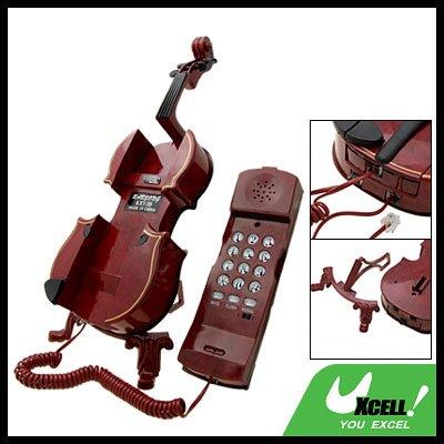 Classic Violin Corded Telephone (KXT-3B) - Mahogany Color