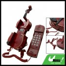 Classic Violin Corded Telephone (KXT-3B) - Mahogany Color