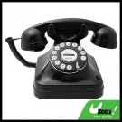 Deluxe Black Vintage Classical Rotary Dial Look Telephone