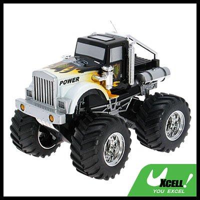 Toy - Remote Radio Control High Speed RC Racing Car-Black & White