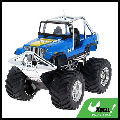Toy - Remote Radio Control High Speed RC Racing Car - Blue