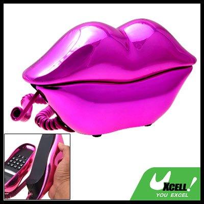 Amaranth Glossy Sexy Lips Kiss Corded Telephone Phone