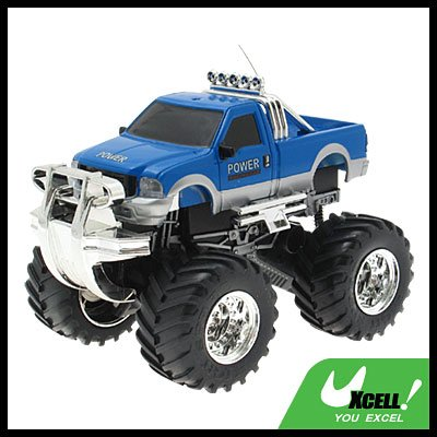 Toy - Radio Remote Control RC Power Cross-country 4x4 Racing Car-Blue