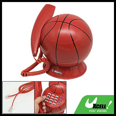 Unique Decorative Corded RJ11 Basketball Telephone