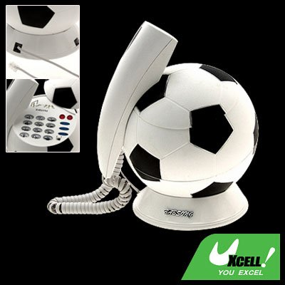 Ideal Home Desk RJ11 Football Shaped Plastic Telephone