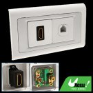 HDMI with 4 Pin RJ11 Telephone Outlet Wall Plate Panel