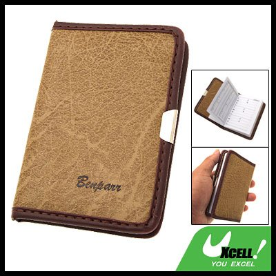 Beige Leather Cover Address and Telephone Book