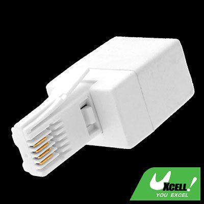 RJ11 Socket - UK Telephone Plug Modem Converter Adapter