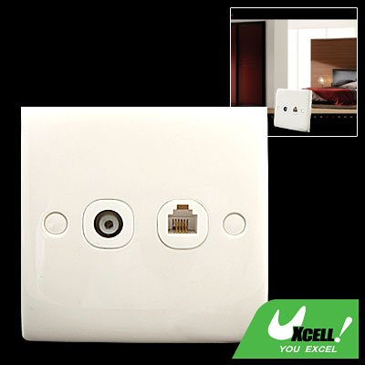 RJ11 Modular Telephone Mounting Wall Plate One Outlet