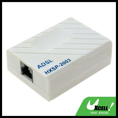 Phone Telephone HX-ADSL Modem Splitter Adapter