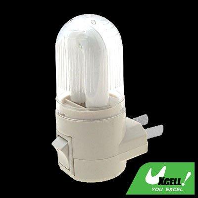 2 Pin Plug AC Power Saving Night Light White