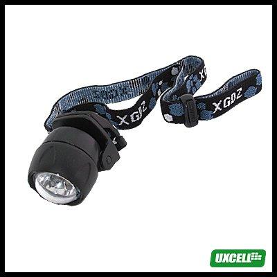 5 Super White LED + Head Strap Mini Head Headlamp Flashlight