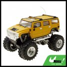 Toy - Yellow High Speed 2 LED Remote Radio Control RC Racing Car Kids