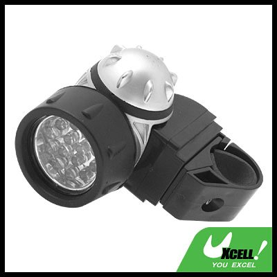 14 LED Bike Bicycle Headlamp Torch Lamp - Black & Silver