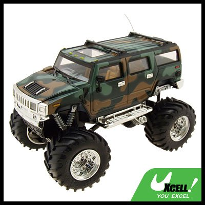 Toy - Camouflage Humvee Army High Speed 2 LED Radio Control Racing 4x4 Car Kids