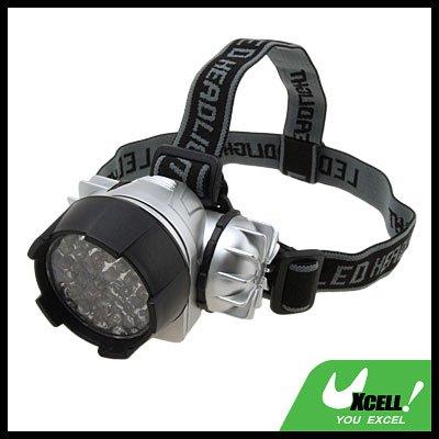 44 White LED Head Flashlight Headlamp with Head Strap
