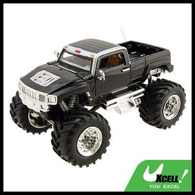 Toy - High Speed 2 LED Radio Control Racing RC Car Pickup Truck Black
