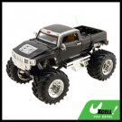 Toy - High Speed 2 LED Radio Control Racing RC Car Pickup Truck Black
