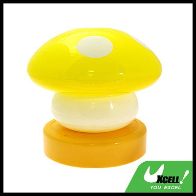 Yellow Mushroom Head Press Down Desk Lamp Night Light