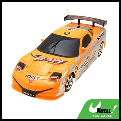 LED Orange Radio Racing Kid Remote Control Toy Car