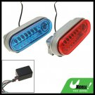 Red Blue Car Auto Flashing Lamp LED Day Head Light 12V