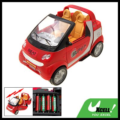 Fashion Red Flashing Music Battery Powered Car Toy