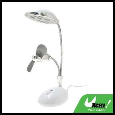 USB Super Bright 13 LED Lamp & Fan for Notebook/PC/laptop/Desktop