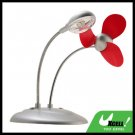 3 LED Lamp & USB Fan for Notebook PC laptop Desktop