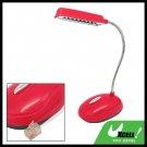 Red Telephone RJ11 Power Saved 8 LED Table Desk Reading Lamp