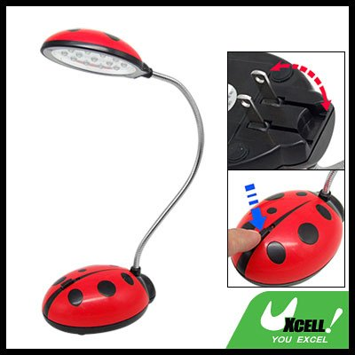 Ladybird 13 Rechargeable LED Gooseneck Desk Lamp (220V)