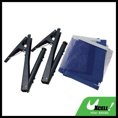 Table Tennis Ping Pong Clamp Post Stand & Replacement Net 174 x 14.7cm
