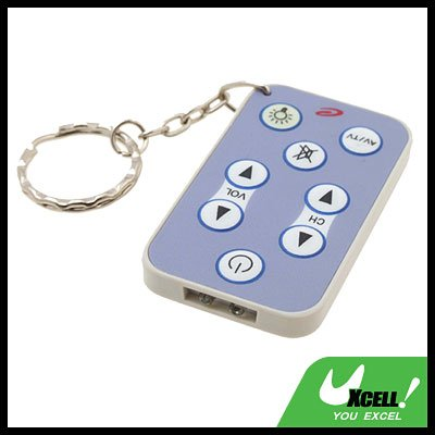 Keychain 8 Buttons Mini Universal AV TV Remote Control