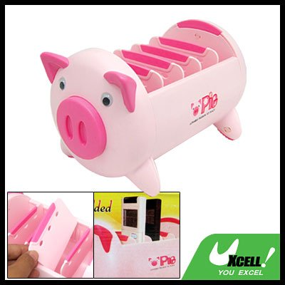 Lovely Pig Box TV Video DVD VCR Remote Control Holder Organizer