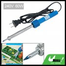 60W Blue Handle Electric Nichrome Heater Soldering Iron Tool