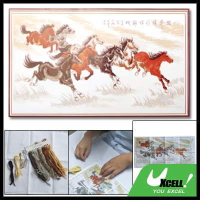Counted Cross Stitch Cross-Stitch Kit with 8 Horse Design