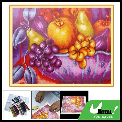 Fruit Pattern Counted Cross Stitch Cross-Stitch Kit