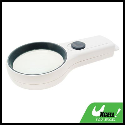 3X High-Quality Pocket Illuminated Magnifier Magnifying Glass - White